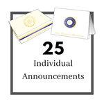 25 Individual Graduation Announcements