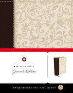 KJV Holy Bible Journal Edition Brown Cream Linen OP!!