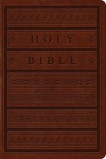 ESV Single Column Bible Brown Engraved