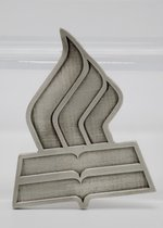 Car Emblem Pewter DTS Flame