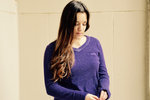 Purple McKenzie V Neck Sweater