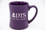 16 oz. Purple Etched Diner Mug with DTS Flame Teach Truth Love Well
