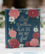 ESV Bible Journaling God Is Within Her Navy Floral Design
