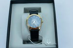 Women's Bulova Black Diamond Leather Watch