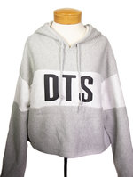 DTS Reverse Weave Crop Hood Gray Medium